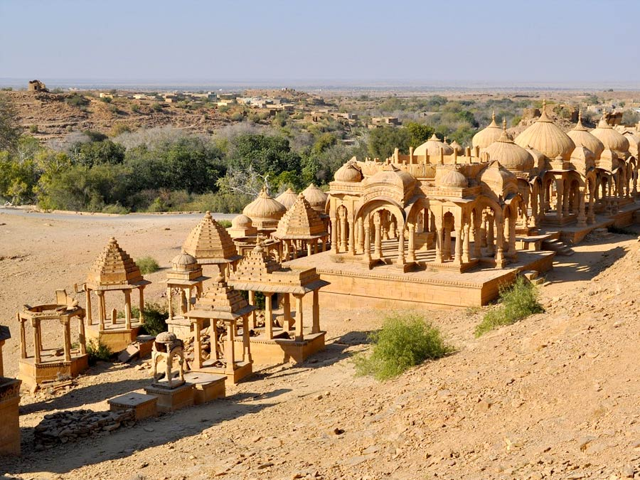 itinerary_jaisalmer_chhatris Best of North India Tour Package